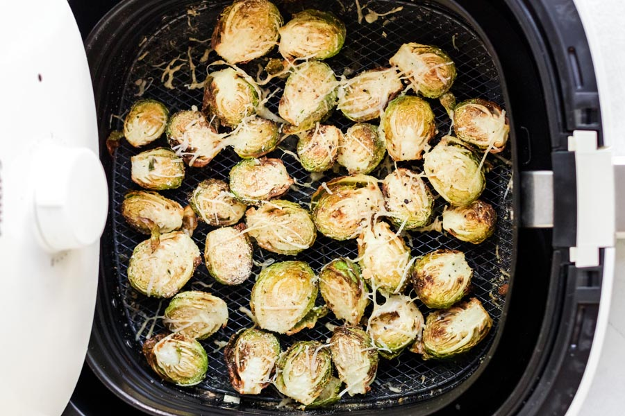 sliced brussels in an air fryer