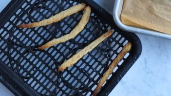 air fryer french fries on a tray