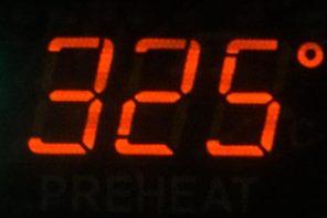 325 degree oven temperature led light