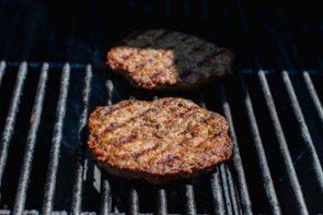 grill hamburger patties for burger bowl