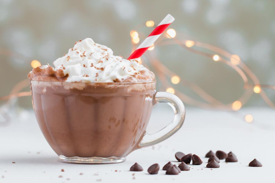 creamy keto hot chocolate made with chocolate chips