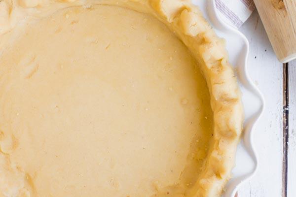 pie crust pressed in a pie pan