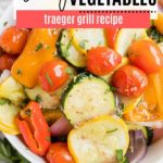 juicy grilled vegetables in a bowl