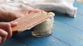 storing homemade butter in a mason jar