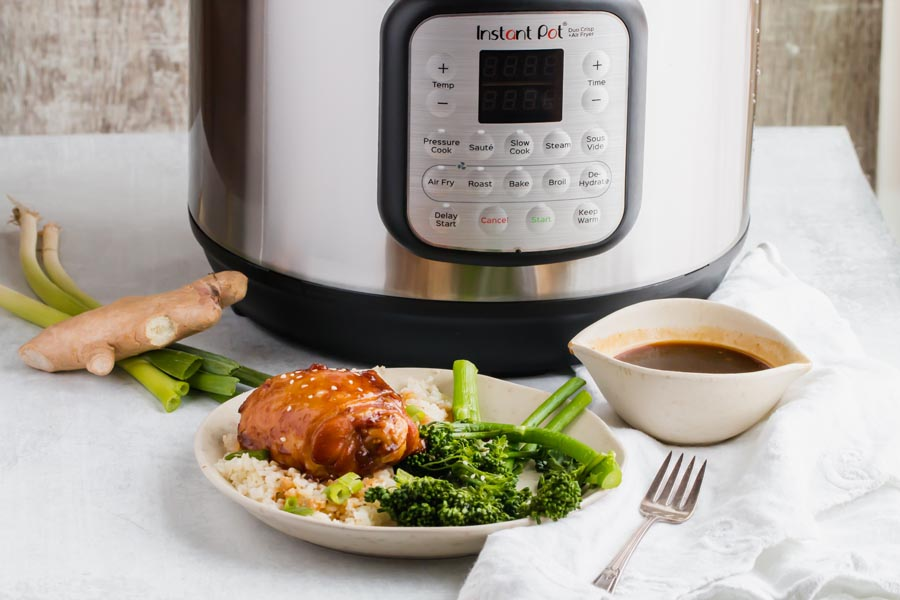 keto chicken teriyaki prepared in the instant pot duo crisp