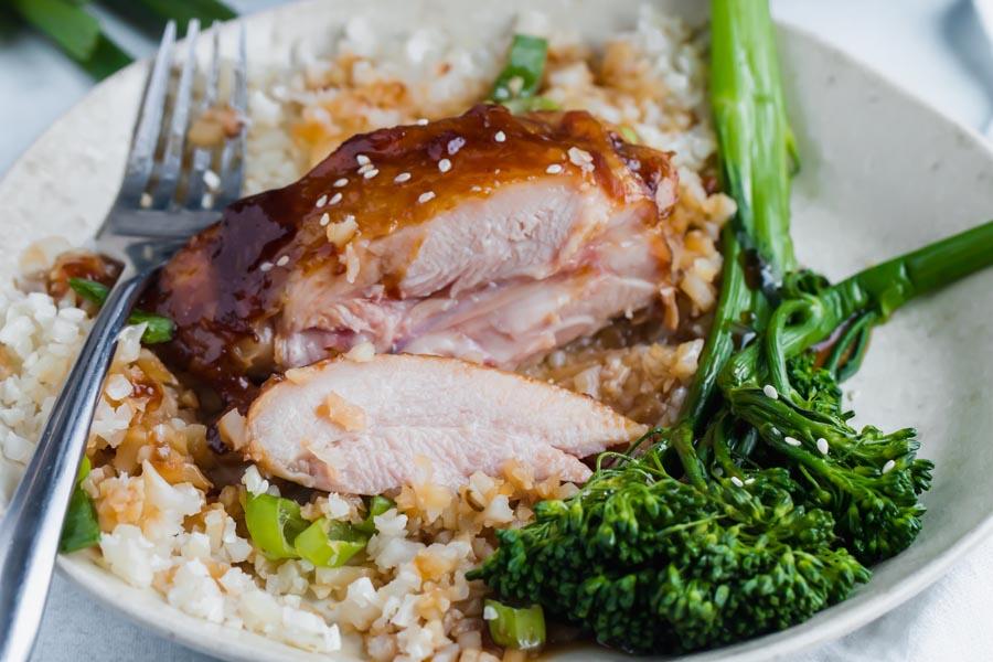 broccoli and sugar-free teriyaki sauce