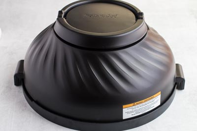 instant pot air fryer lid on the protective cover