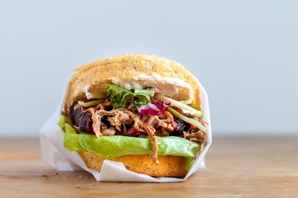 keto pulled pork sandwich