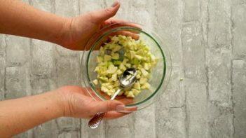 zucchini apple mixture in a bowl