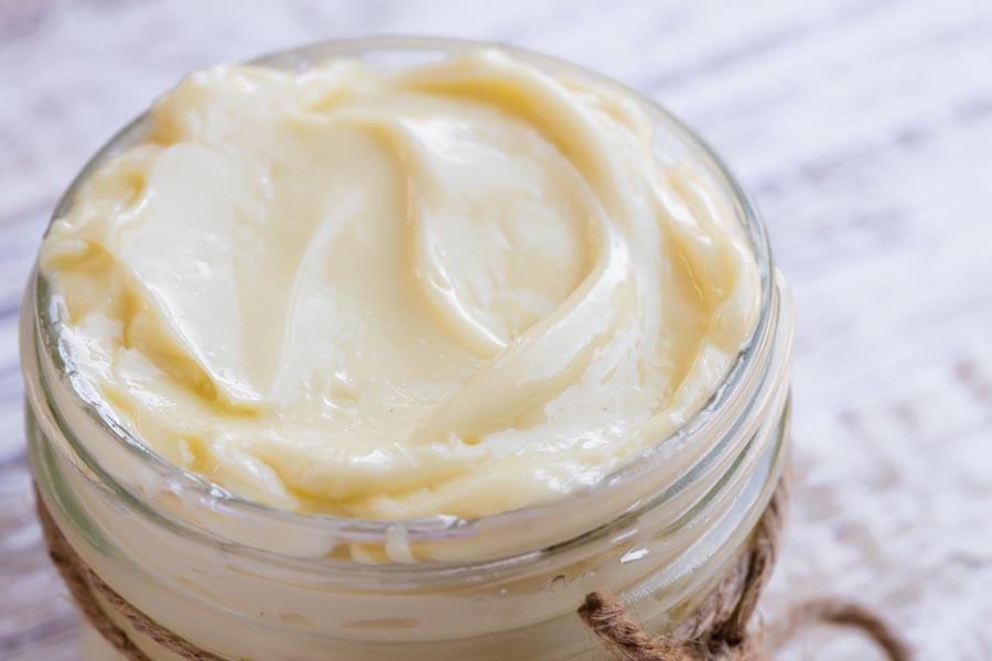 close up of thick mayo