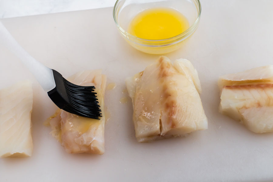Brush Cod with butter