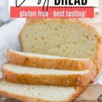 sliced keto bread on a cutting board