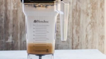mixing bulletproof coffee with frother or blender