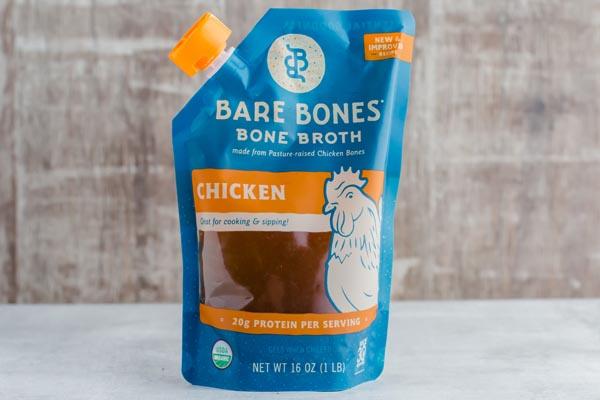 bare bones chicken broth
