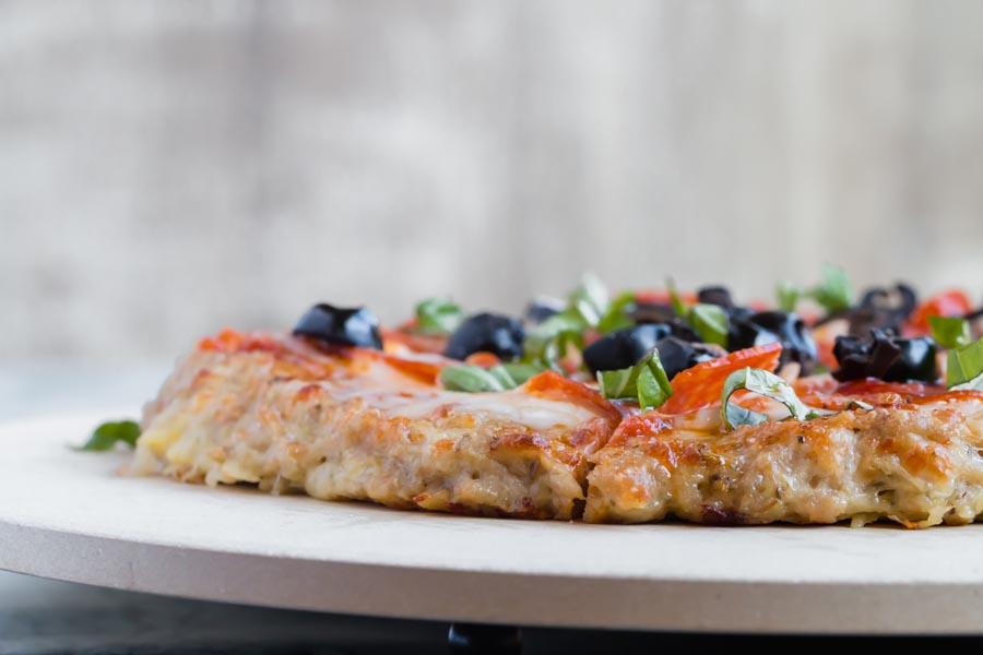 thick crust keto pizza