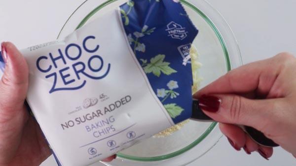 bag of keto chocolate chips