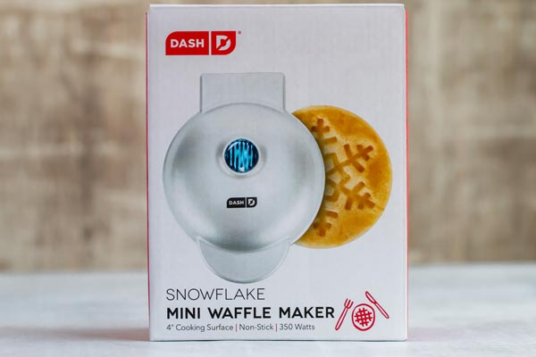 snowflake waffle maker by Dash
