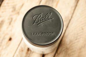 a Ball lid on a mason jar