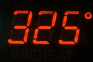 red 325 degree oven temperature