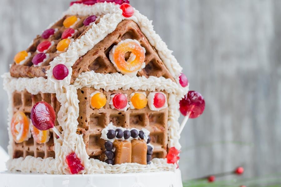 keto gingerbread house put together