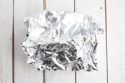a foil packet on a white background