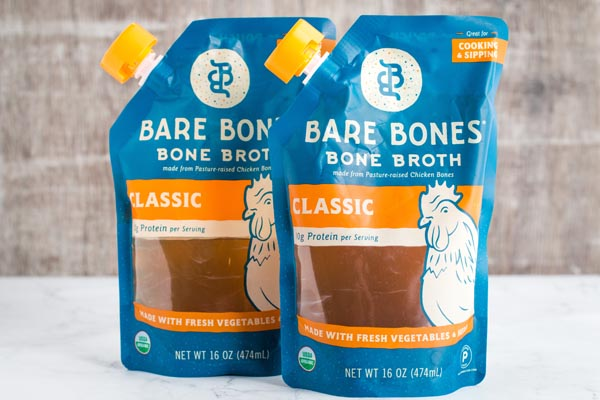 package of bare bones chicken broth