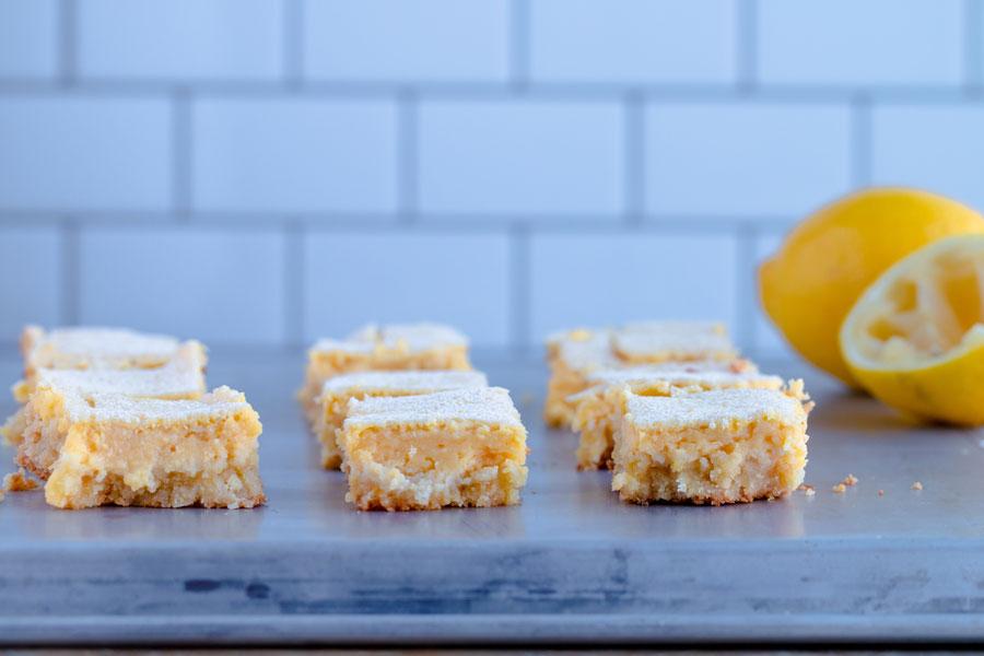 tart and sweet keto lemon bars