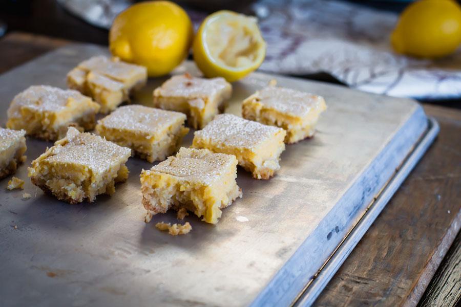 baked keto lemon bars