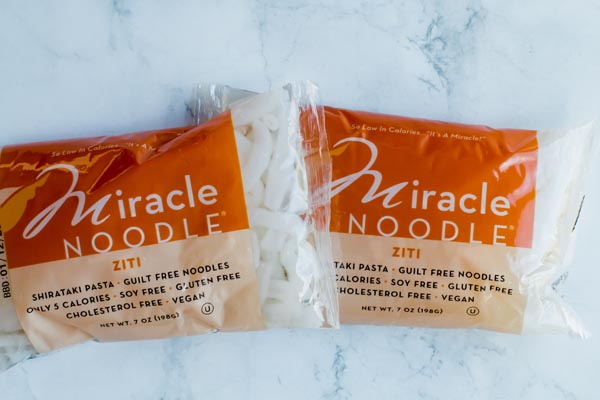 shirataki noodles in a package