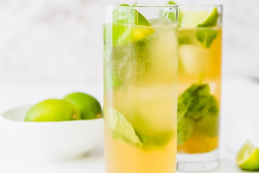 two refreshing glass of mojitos