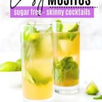 two cocktails with mint and lime