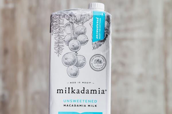 carton of macadamia nut milk