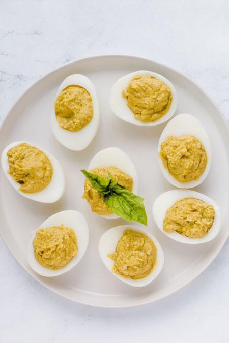 yummmm keto pesto deviled eggs