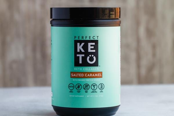 perfect keto salted caramel collagen powder