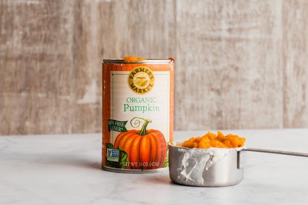 a can of pumpkin