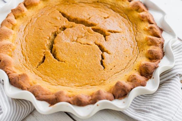 cracked pumpkin pie