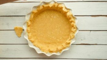 crimping the edges of a pie crust