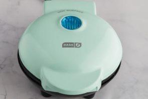 teal green waffle maker