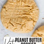 a crisscross peanut butter cookie with nuts