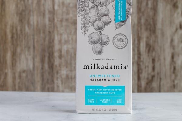 a carton of macadamia nut milk