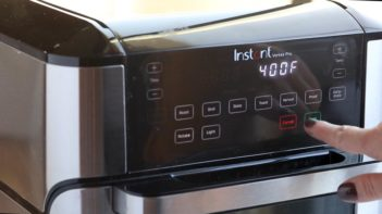 turning on an air fryer